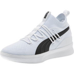Thumbnail 1 of Clyde Court Basketball Shoes JR, Puma White, medium