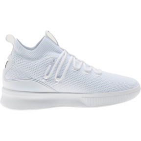Thumbnail 4 of Clyde Court Basketball Shoes JR, Puma White, medium