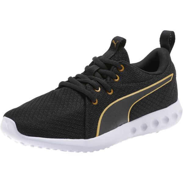Carson 2 Metallic Mesh Shoes JR, Puma Black-Gold, large