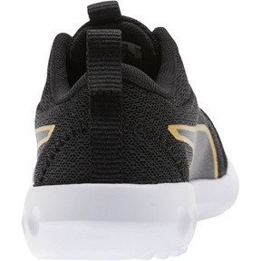 Miniatura 3 de Zapatos Carson 2 Metallic Mesh para niños pequeños, Puma Black-dorado, mediano