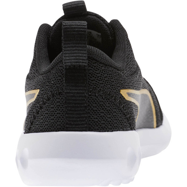 Carson 2 Metallic Mesh Little Kids' Shoes, Puma Black-Gold, large