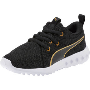 Miniatura 1 de Zapatos Carson 2 Metallic Mesh para niños pequeños, Puma Black-dorado, mediano