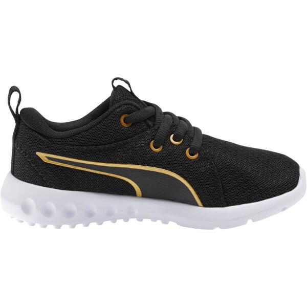 Zapatos Carson 2 Metallic Mesh para niños pequeños, Puma Black-dorado, grande