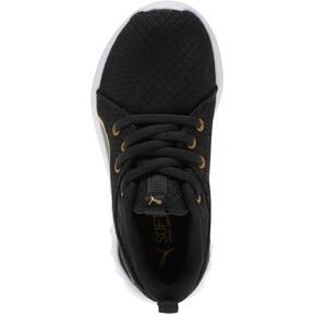 Miniatura 5 de Zapatos Carson 2 Metallic Mesh para niños pequeños, Puma Black-dorado, mediano