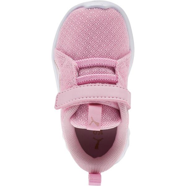 Carson 2 Metallic Mesh Toddler Shoes, Pale Pink-Rose Gold, large