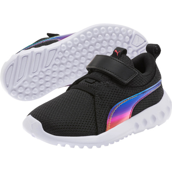 Carson 2 Iridescent Little Kids' Shoes, Puma Black-Puma White, large