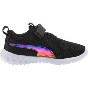 Thumbnail 4 of Carson 2 Iridescent Little Kids' Shoes, Puma Black-Puma White, medium