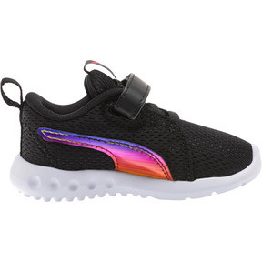 Thumbnail 4 of Carson 2 Iridescent Toddler Shoes, Puma Black-Puma White, medium