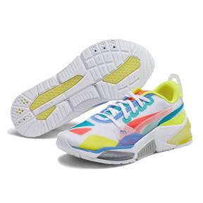 Thumbnail 2 of LQDCELL Optic Sheer Training Shoes JR, White-Nrgy Rose-Yellow, medium