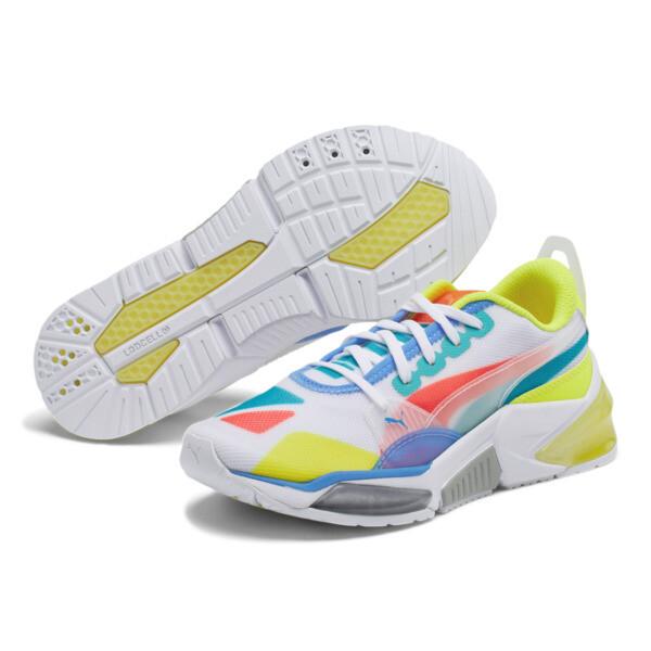 LQDCELL Optic Sheer Training Shoes JR, White-Nrgy Rose-Yellow, large
