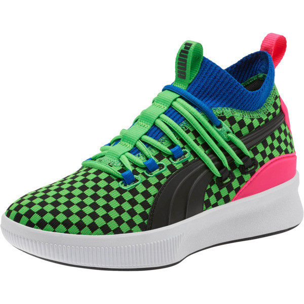 Souliers de Basketball Clyde Court Summertime, enfant, 802 C Fluro Green PES, grand