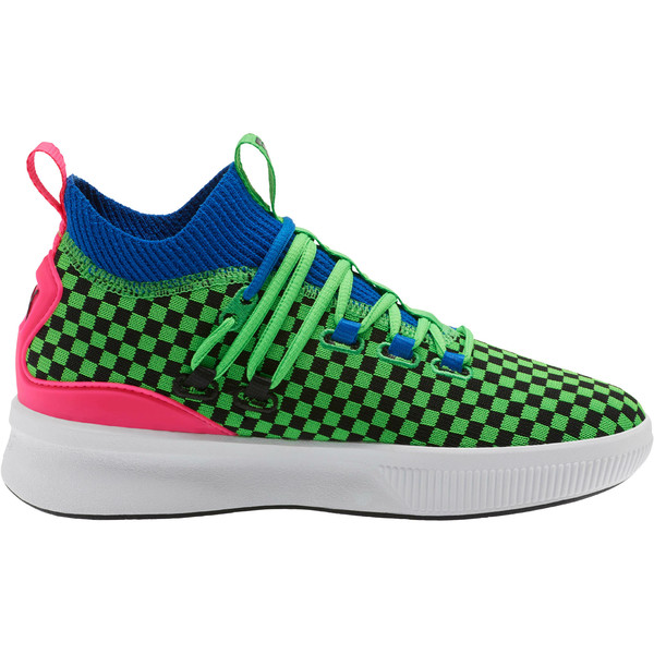 Clyde Court Summertime Basketball Shoes JR, 802 C Fluro Green PES, large