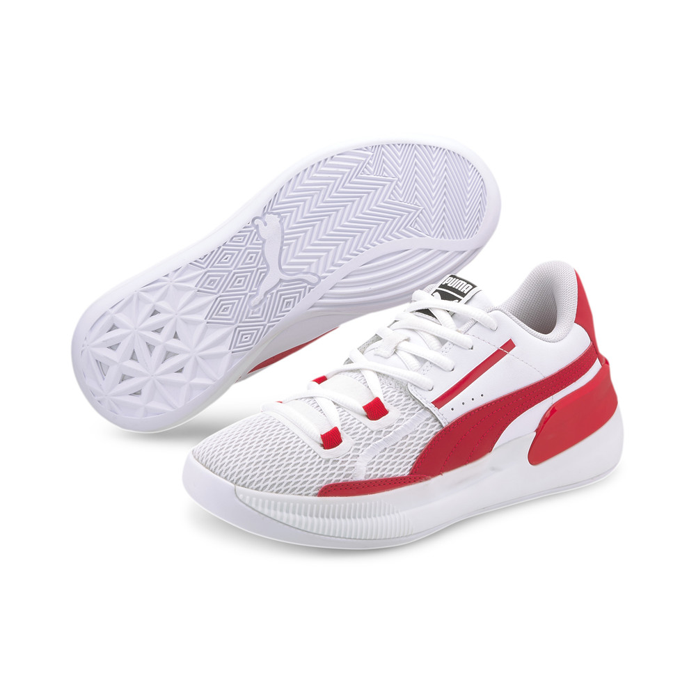 Image PUMA Clyde Hardwood Team Youth Basketball Shoes #2