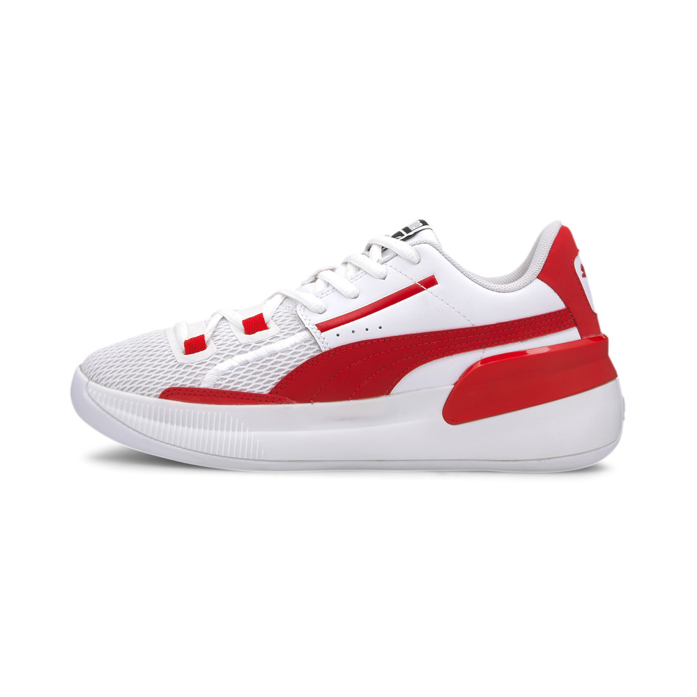 Image PUMA Clyde Hardwood Team Youth Basketball Shoes #1