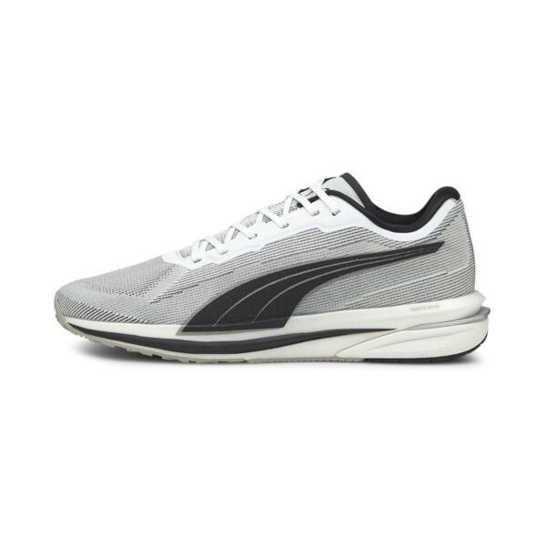 puma velocity nitro men's running shoes in white/black, size 7