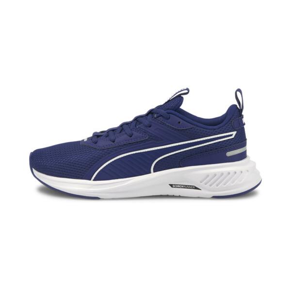 puma scorch runner sneakers jr in elektro blue/white, size 4