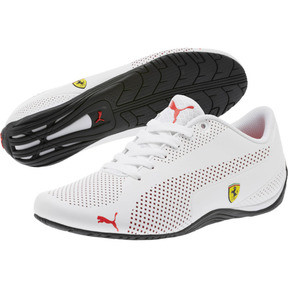 Thumbnail 2 of Scuderia Ferrari Drift Cat 5 Ultra Shoes, Puma White-Rosso Corsa-Black, medium