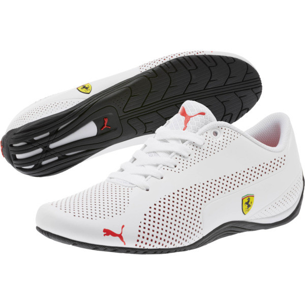 Scuderia Ferrari Drift Cat 5 Ultra Shoes, Puma White-Rosso Corsa-Black, large