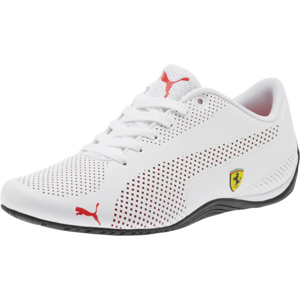 16476472d242 Scuderia Ferrari Drift Cat 5 Ultra Shoes, Puma White-Rosso Corsa-Black,