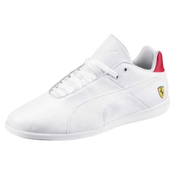 Ferrari Future Cat Casual Trainers, Puma White-Wht-Rosso Corsa, large