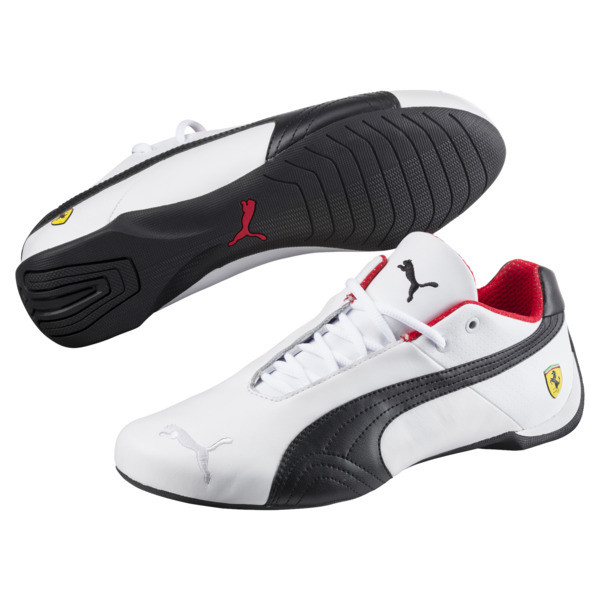 Ferrari Future Cat OG Trainers, White-Black-Rosso Corsa, large
