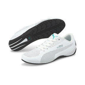 Thumbnail 2 of MERCEDES AMG PETRONAS Drift Cat Ultra Training Shoes, Puma White-Spectra Green-Blk, medium