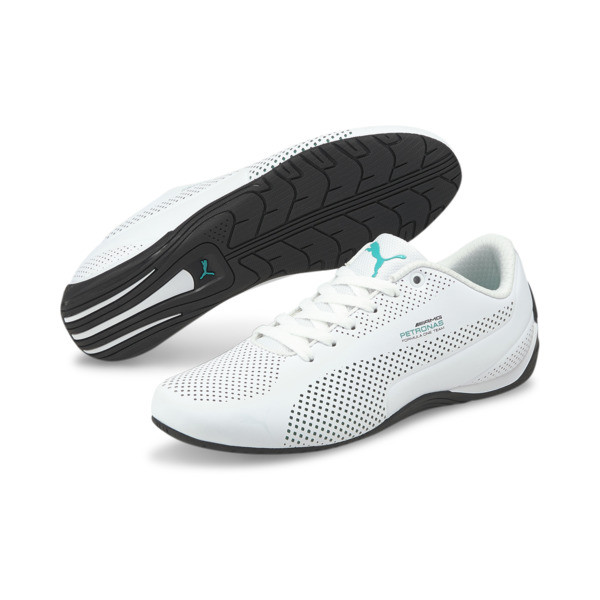 MERCEDES AMG PETRONAS Drift Cat Ultra Training Shoes, Puma White-Spectra Green-Blk, large