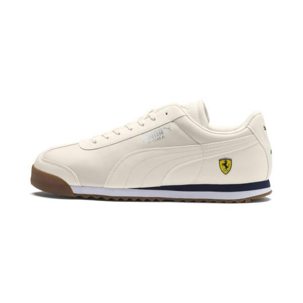 Scuderia Ferrari Roma Men's Sneakers, Whisper White-Whisper White, large