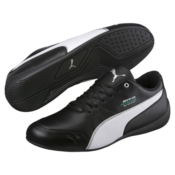MERCEDES AMG PETRONAS Motorsport Drift Cat 7 Trainers, Black-White-Mercedes Tm Slvr, large