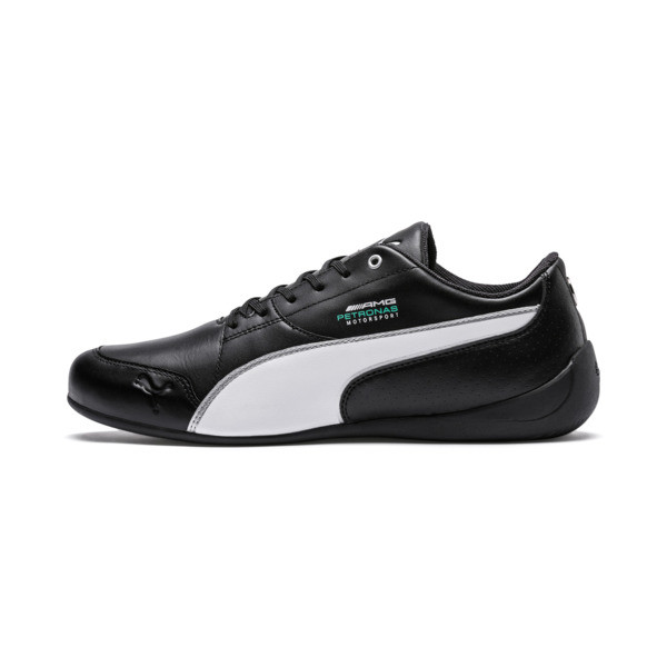 Mercedes AMG Petronas Motorsport Drift Cat 7 Shoes, Black-White-Mercedes Tm Slvr, large