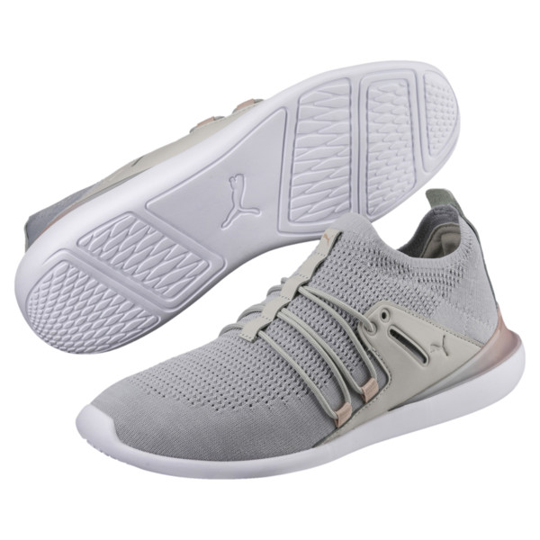 Evo Cat Sock Lace Monaco Women's Sneakers, GrayViolet-MahoganyRose-Wht, large