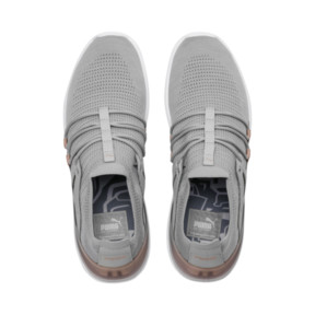 Thumbnail 6 of Evo Cat Sock Lace Monaco Women's Sneakers, GrayViolet-MahoganyRose-Wht, medium