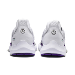 Thumbnail 4 of Mercedes AMG Petronas Motorsport Evo Cat II Sock Lace Lewis Hamilton Trainers, PumaWhite-Wht-M. Team Silver, medium