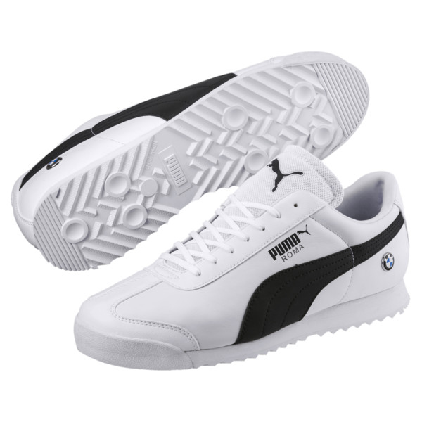 BMW MMS Roma Men's Sneakers, Puma White-Anthracite, large