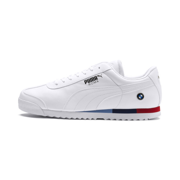 BMW MMS Roma Men's Trainers, Puma White-Puma White, large