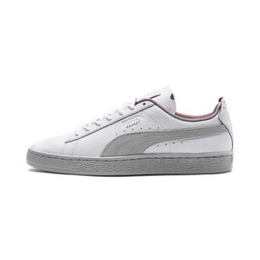 Thumbnail 1 of Scuderia Ferrari Basket Sneakers, Puma White-Glacier Gray, medium