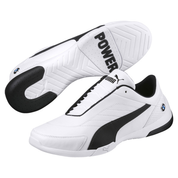 BMW M Motorsport Kart Cat III Shoes, Puma White-Anthracite, large