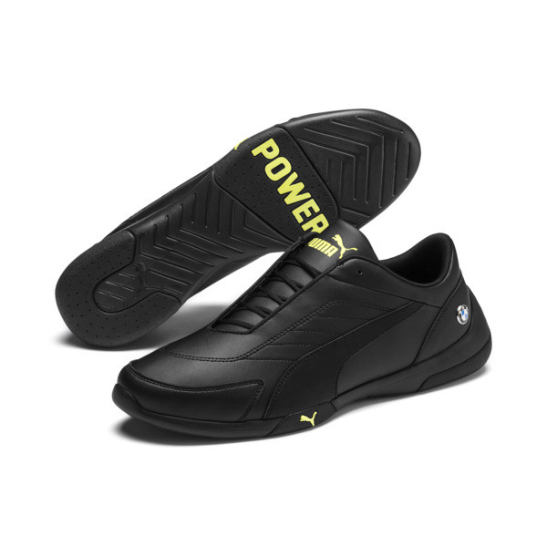 BMW M Motorsport Kart Cat III Trainers, Puma Black-Fizzy Yellow, large