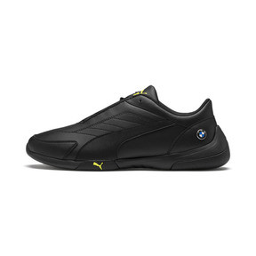 Thumbnail 1 of BMW M Motorsport Kart Cat III Trainers, Puma Black-Fizzy Yellow, medium