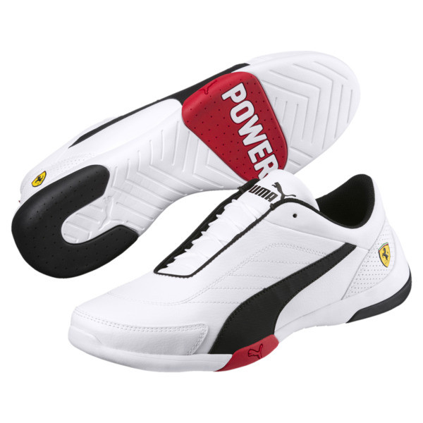 Ferrari Kart Cat III Trainers, Puma White-Puma Black, large