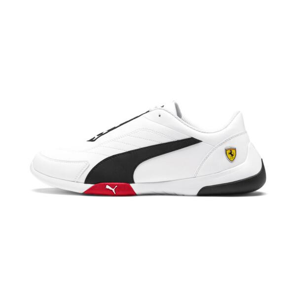ZapatosScuderiaFerrariKart Cat III, White-Black-Rosso Corsa, grande