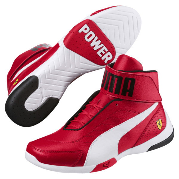 Scuderia Ferrari Kart Cat Mid III Hi Top Shoes, Rosso Corsa-Puma White, large