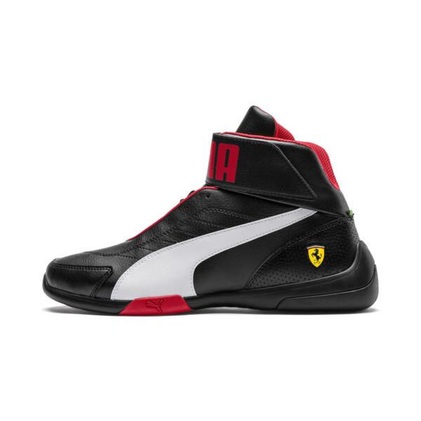 Scuderia Ferrari Kart Cat Mid III Hi Top Shoes, Puma Black-Puma White, large