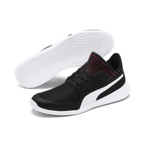 Thumbnail 3 of Ferrari Evo Cat Mace Trainers, Puma Black-Puma White, medium
