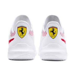 Thumbnail 4 of Ferrari Evo Cat Mace Trainers, Puma White-Rosso Corsa, medium
