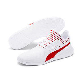 Thumbnail 3 of Ferrari Evo Cat Mace Trainers, Puma White-Rosso Corsa, medium