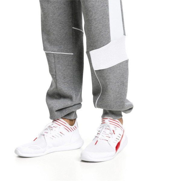 Scuderia Ferrari Evo Cat Mace Sneakers, Puma White-Rosso Corsa, large