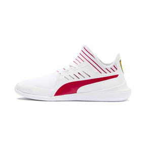 Thumbnail 1 of Ferrari Evo Cat Mace Trainers, Puma White-Rosso Corsa, medium
