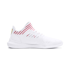 Thumbnail 6 of Ferrari Evo Cat Mace Trainers, Puma White-Rosso Corsa, medium