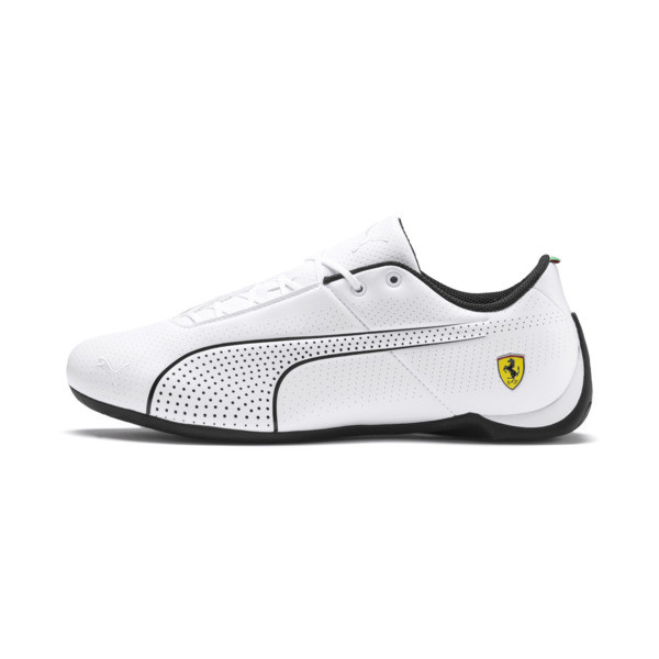 Ferrari Future Cat Ultra Trainers, Puma White-Puma Black, large